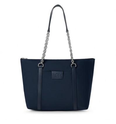 Capazo Tous Empire Soft Chain azul marino
